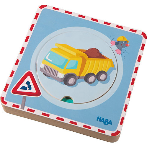 HABA Toys: Wooden Puzzle (Construction Site)