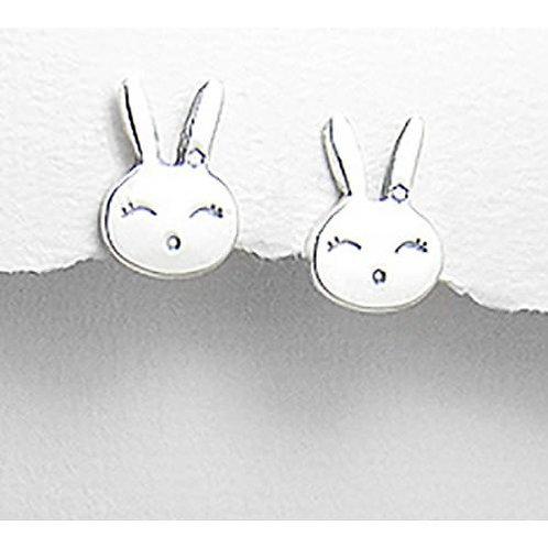 Baby Bunny - Sterling Silver Earrings