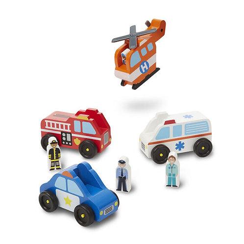 Melissa & Doug: Emergency Vehicle Set
