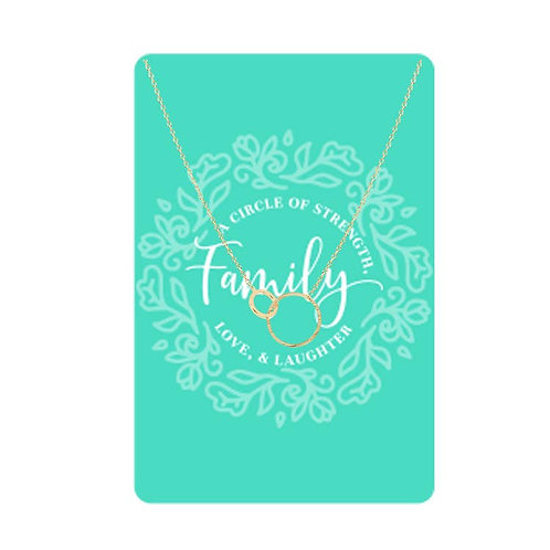 Necklace Card (Family: A Circle of Strength, Love, & Laughter)