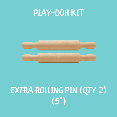 Extra Play Dough Rolling Pin (set of 2)