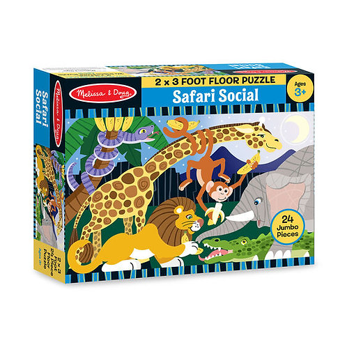Melissa & Doug: 24pc Floor Puzzle (Safari Social)