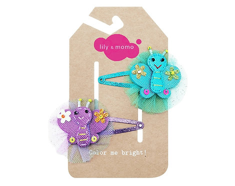 Butterfly Pals - Set of 2 Hair Clips