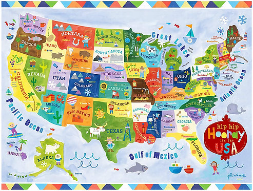75pc United States Map Puzzle