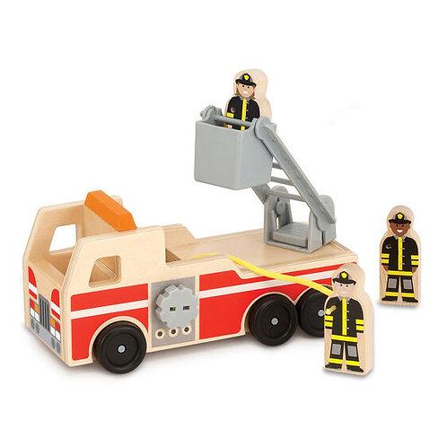 Melissa & Doug: Wooden Fire Truck Play Set
