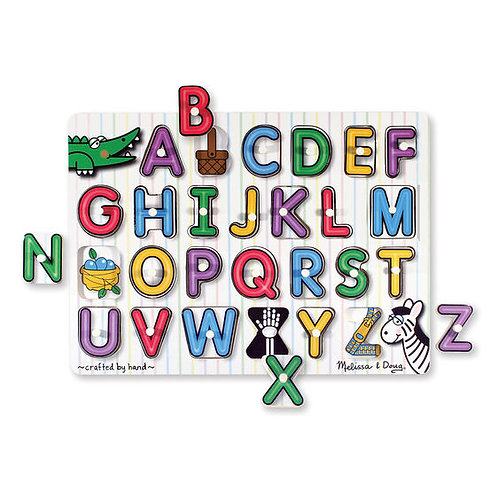Melissa & Doug: See-Inside Peg Puzzle (Alphabet)