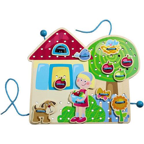 HABA Toys: Threading Game (Greta's Garden Lodge)