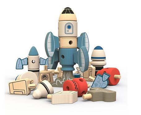Begin Again Toys: 31pc Tinker Totter Rocket