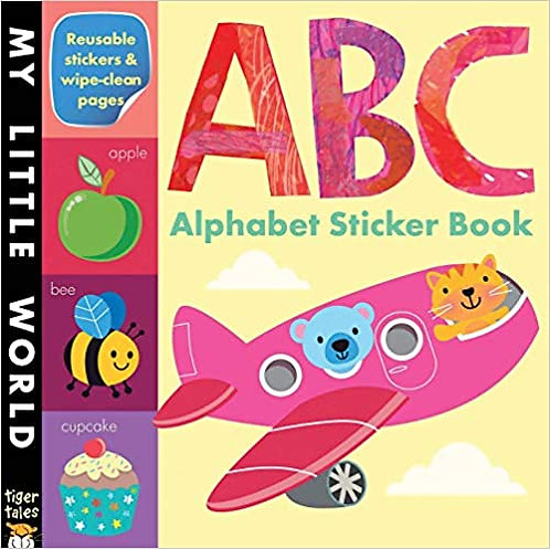 Set of 2 Sticker Books (Alphabet A-B-C & Numbers 1-2-3)