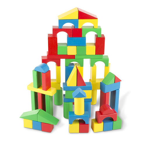Melissa & Doug: 100 Wood Blocks Set
