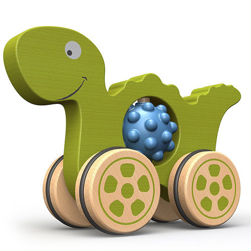 Begin Again Toys: Nubble Rumbler Dinosaur Push Toy