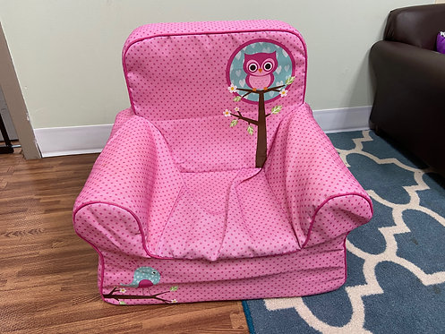 Toddler Chair - Pink Owl - USED (unavailable for shipping due to size)