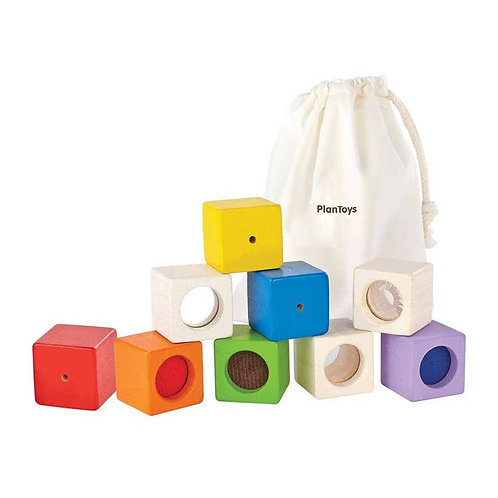 PlanToys: Activity Blocks (visual, auditory, & texture blocks)