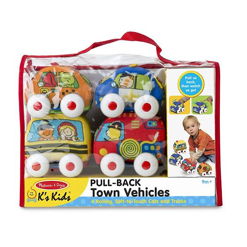 Melissa & Doug: Pull-Back Vehicles Baby and Toddler Toy