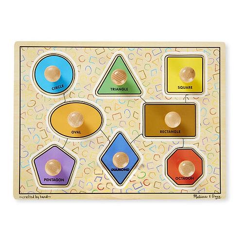 Melissa & Doug: Wooden Jumbo Knob Puzzle (Shapes)