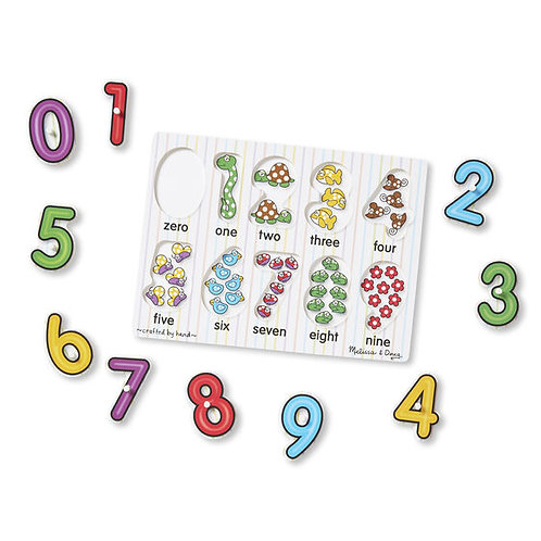 Melissa & Doug: 26pc See-Inside Peg Puzzle (Numbers)