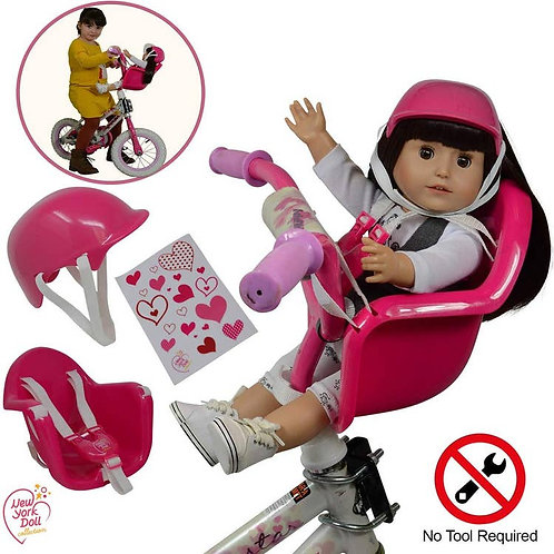 Doll Bike Seat with Helmet (doll not included)