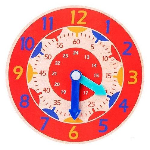 Montessori Wooden Clock by Stowey Joey