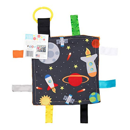 """Crinkle Tag Lovey - Square 8""""x8"""" (Space)"""