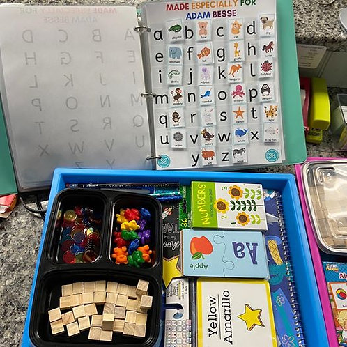 Preschool At Home - Binder AND Sensory Tray/Add-Ons