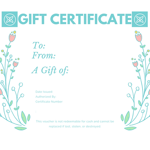 Gift Certificate - In Any Value!