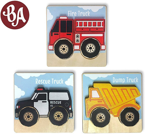 Begin Again Toys: Vehicles Puzzles (3 Choices)