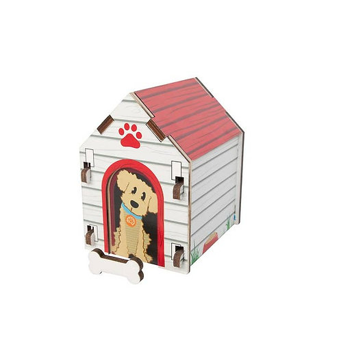 Fat Brain Toys: Dog House Blueprint Puzzle