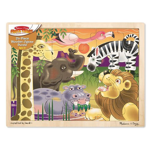 Melissa & Doug: 24pc Wooden Jigsaw Puzzle (African Plains)
