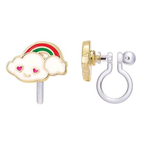 Earrings - Choice of Clip-on or Studs (Cloud Luvs Rainbow)
