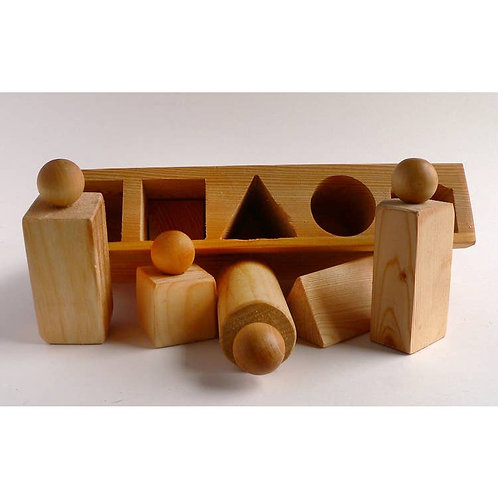 Wooden Handcarved Shape Sorter