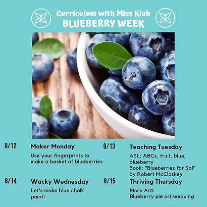Blueberry Week