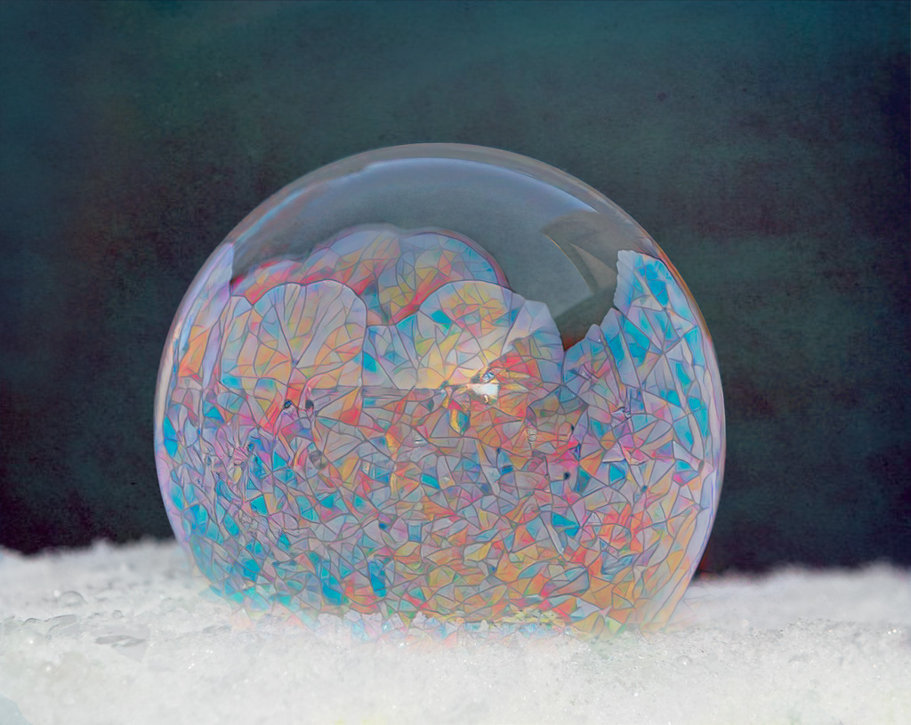 """NeilM - """"Stained Glass"""" Freezing Soap Bubble"""