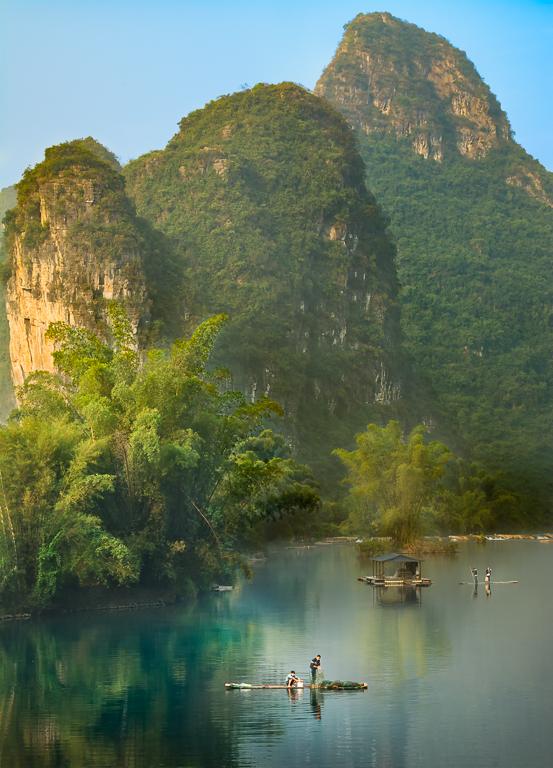 Bamboo Raft Fishermen - Paul P