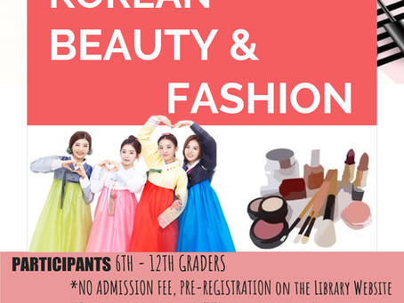 Korean Cultural Event at Northbrook Library (K-Beauty)