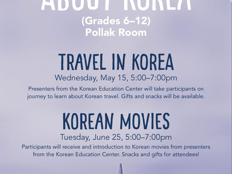 Korean Culture Session at Northbrook Library (TRAVEL IN KOREA)