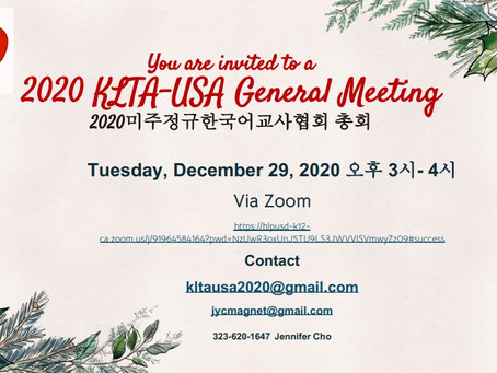 2020 KLTA-USA General Meeting