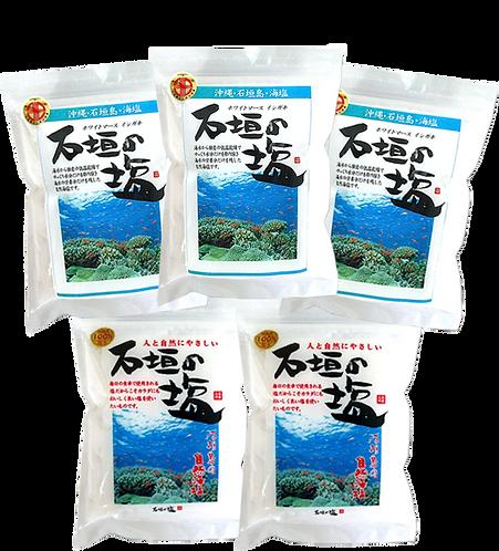 石垣の塩 セット①(天日500g×3袋・500g×2袋)