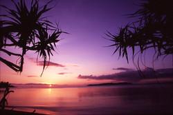 イメージフォト 石垣の塩 (夕日と名蔵湾)