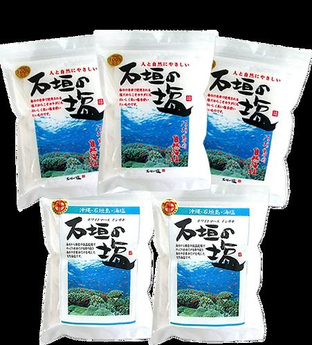 石垣の塩 セット①(500g×3袋・天日500g×2袋)