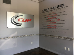 COP Logo and Values