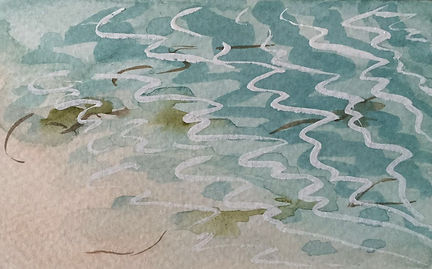 Tresco water (3) Gouache 72 x 105mm