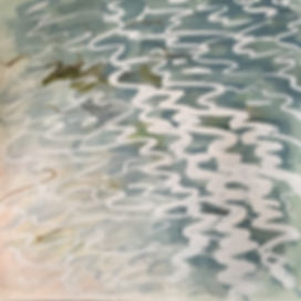 Tresco water (5) Watercolour and gouache 210 x 210mm