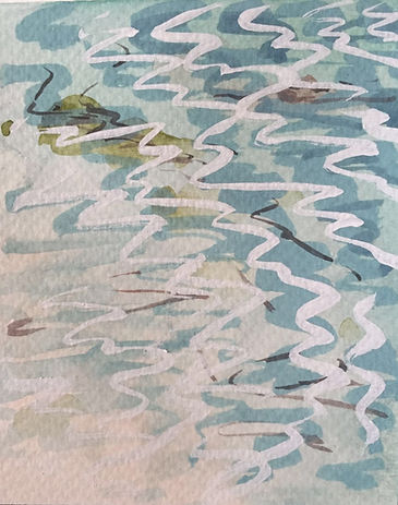 Tresco water (4) Watercolour and gouache 150 x 110mm