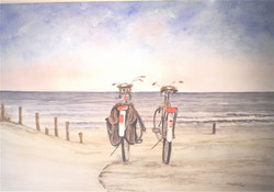Willem Wolthuis ~ samen op 't strand