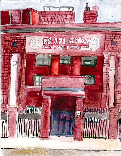 Student rendition of p721K main buidling
