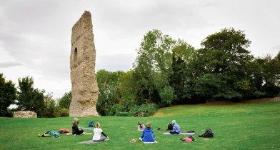 Yoga and Hiking Bramber castle 2.jpg