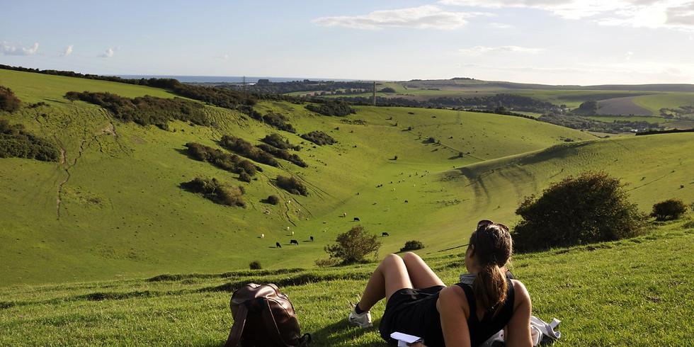 past Walking, Yoga, filming break - South Downs
