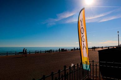 Yoga in Brighton enjoying the view