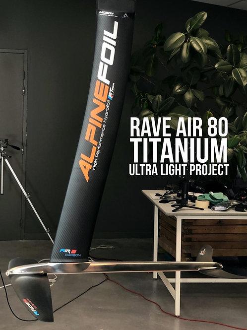 Alpine Foil Kitefoil RAVE AIR 80 Titanium