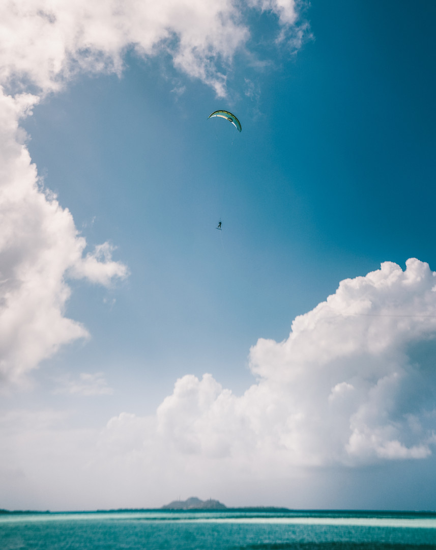 Flying in Los Roques